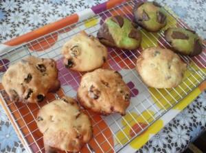 フルーツクッキーと抹茶クッキー