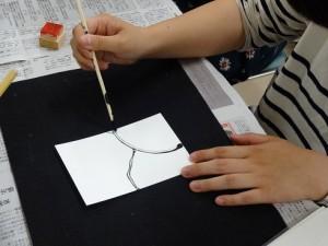 割り箸で絵葉書