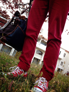 赤いズボン